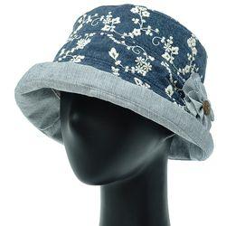 [더그레이]DKU12.자수코사지 여성 벙거지 모자 버킷햇