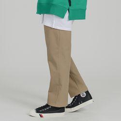 BASIC 2H LINE COTTON PANTS BEIGE