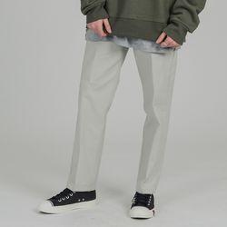 BASIC 2H LINE COTTON PANTS L.BEIGE