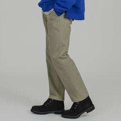 BASIC 2H LINE COTTON PANTS L.KHAKI