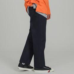 BASIC 2H LINE COTTON PANTS NAVY