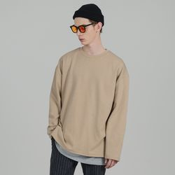 SMCOCL OVERSIZED LONG SLEEVE T-SHIRTS BEIGE