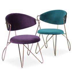 Loop dining chair(루프 다이닝 체어)-그린퍼플