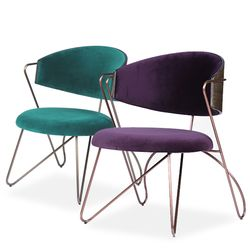 loop lounge chair(루프 라운지 체어)-그린퍼플