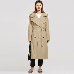 fresh boxy trench coat