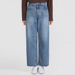 over wide denim pants (s m)