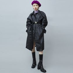 crumple plastic coat