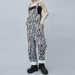 zebra baggy overalls - UNISEX