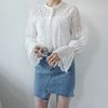 Wave lace blouse