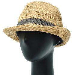 [더그레이]DKP08.밀짚 라인 여성 페도라 여름 모자