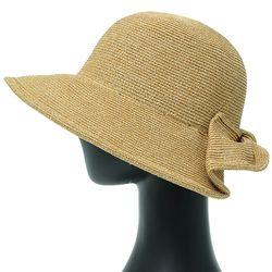 [더그레이]DKP07.뒷리본 밀짚 여성 여름 비치 모자