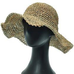 [더그레이]DKP06.씨스루 밀짚 여성 여름 비치 모자