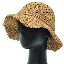 [더그레이]DKP05.리본끈 밀짚 여성 여름 비치 모자