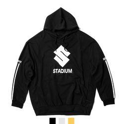 스타디움 프린팅 루즈핏 후드티셔츠
