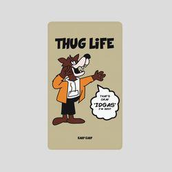[어프어프][보조배터리]Wolf thug life-beige-2500mah