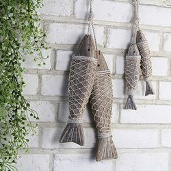 나무 물고기 장식-소