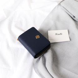 렌토 오픈지퍼반지갑 네이비
