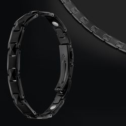 JEW17퀸즈블랙 게르마늄 건강목팔찌 순도99.999