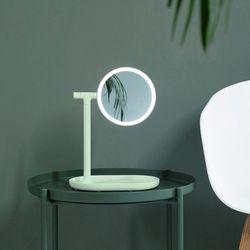 프리미엄 LED 조명 탁상거울 - 민트