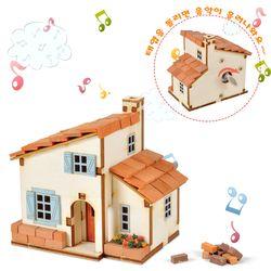 DIY태엽오르골 스페인풍 집 만들기(YM-951)