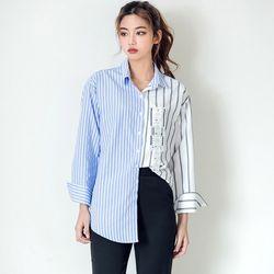 [로코식스] unbal button SH셔츠