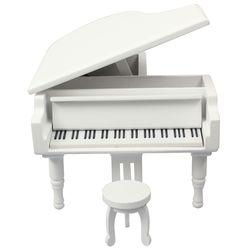 그랜드피아노 오르골(화이트) - 멜로디선택 가능