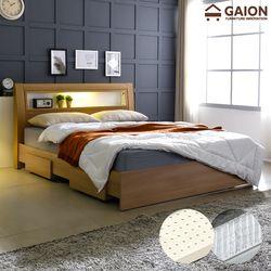 패션 서랍형 LED 침대 SS 라텍스포켓20T
