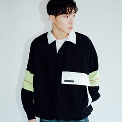 KANORAK PULLOVER JACKET BLACK