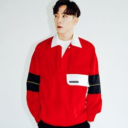 KANORAK PULLOVER JACKET RED