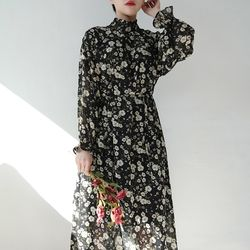 Floral chiffon long ops