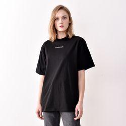 시그니처 로고 반팔 티셔츠 블랙