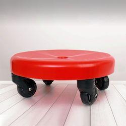 플라스틱 이동식 좌식 원형 바퀴 의자