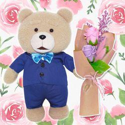 19곰 테드 인형 선물용 플라워 패키지 30CM