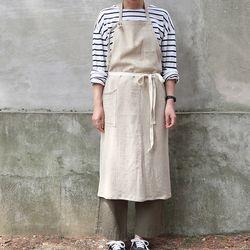 stripe apron (2 color)