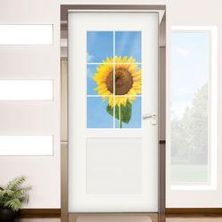 ch801-창문그림(활짝핀해바라기)현관문시트지