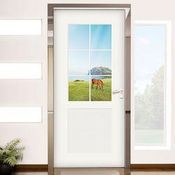 ch803-창문그림(제주도풍경)현관문시트지