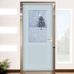 ch808-창문그림(눈오는날)현관문시트지