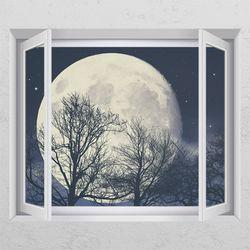 ij432-아름다운달창문그림액자