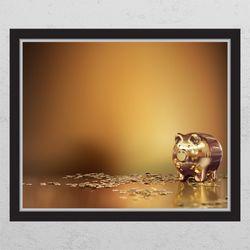 is795-황금시리즈(작은돼지)창문그림액자