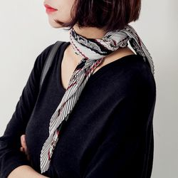 pleats satin scarf스카프