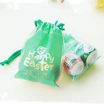 부활절 달걀2구 복주머니 비닐백(10개)-Happy Easter