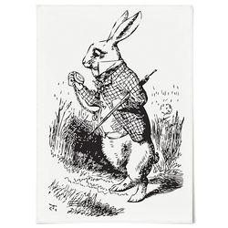 패브릭 포스터 F199 북유럽 시계 토끼 [중형]