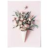 패브릭 포스터 F202 식물 아이스크림 꽃 [중형]