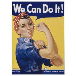 패브릭 포스터 F204 빈티지 그림 We can do it [중형]