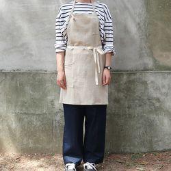 stripe short apron  (2 color)