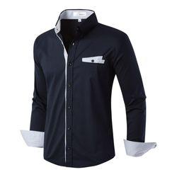 [모니즈] 체크 포인트 스판 셔츠 SHT731
