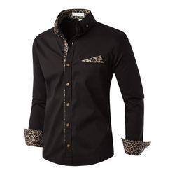 [모니즈] 호피 스판 셔츠 SHT730