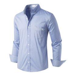 [모니즈] 포켓 스트라이프 스판 셔츠 SHT726