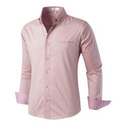 [모니즈] 체크 단추 스판 셔츠 SHT725