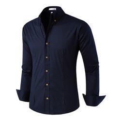[모니즈] 투 버튼 스판 셔츠 SHT722